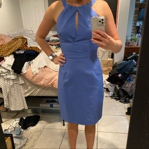 J.Crew Fitted Blue Dress